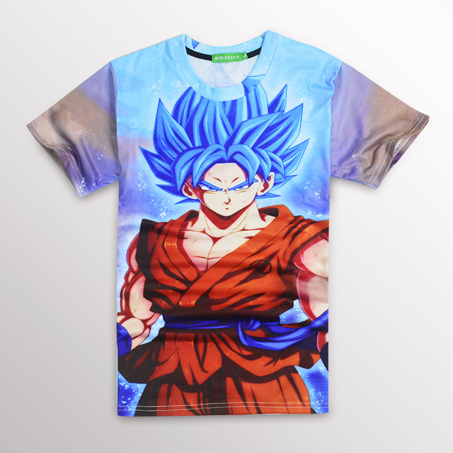 Dragon Ball Z Goku 3D Anime Super Saiyan Fashion Casual Unisex T-shirt