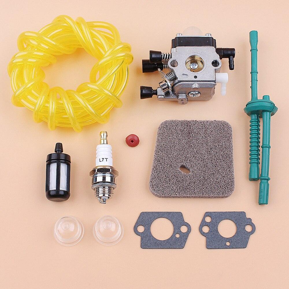 Carburetor Air Filter 5M Fuel Hose Kit For STIHL FS38 FS45 FS46 FS55 KM55 FS85 FS75 FS80 KM85 HS75 HS80 HS85 Trimmer BruchcutterCarburetor Air Filter 5M Fuel Hose Kit For STIHL FS38 FS45 FS46 FS55 KM55 FS85 FS75 FS80 KM85 HS75 HS80 HS85 Trimmer Bruchcutter