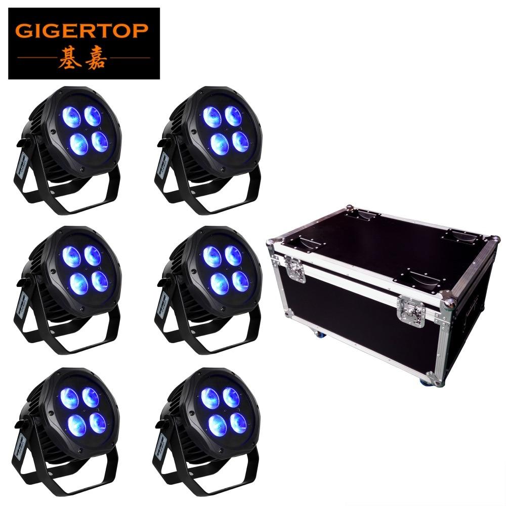 6IN1 Laddning Flightcase Pack 4x18W Vattentätt batteri Trådlöst 2.4G IRC Fjärrkontroll Led Par Light Seetronic Utomhusplugg