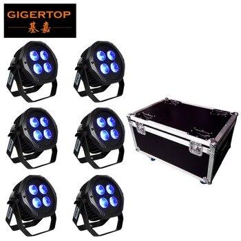 6IN1 charge Flightcase Pack 4x18W batterie étanche sans fil 2.4G IRC télécommande Led Par lumière Seetronic prise extérieure
