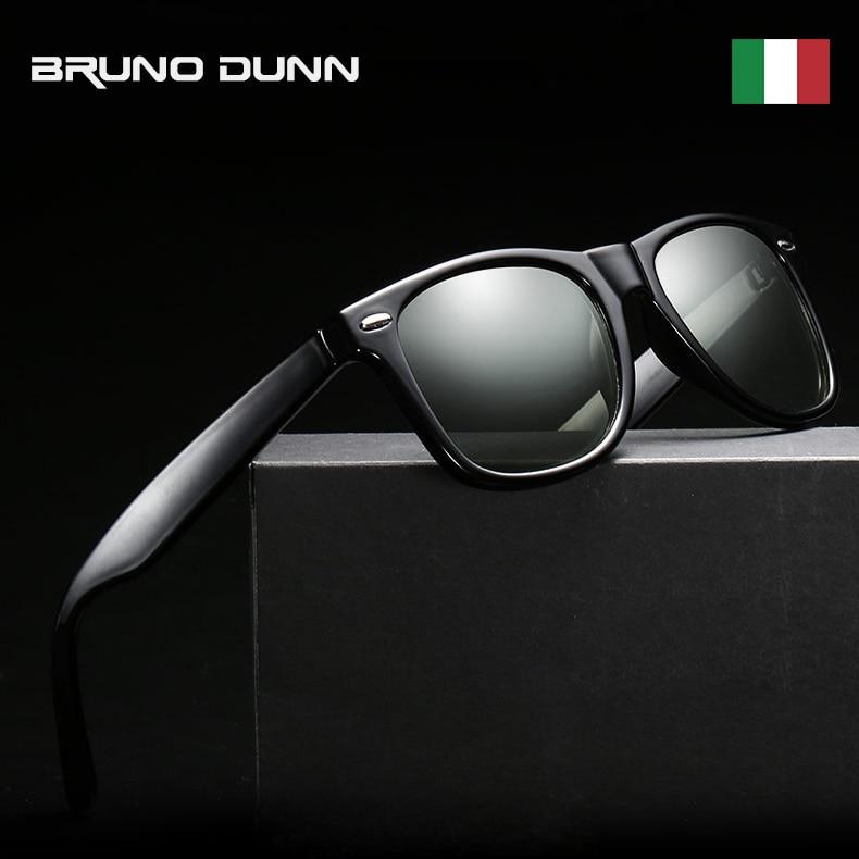 BRUNO DUNN Photochromic Men women Night Vision Driving Glasses Polarized Anti-Glare Lens classic Square Sunglasses For Car ray