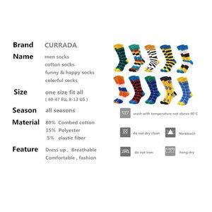 Image 2 - 10 пар/лот, мужские Носки Happy, качественные, комбинированные, цветные, забавные, Мультяшные, модные, длинные, мужские, компрессионные, повседневные