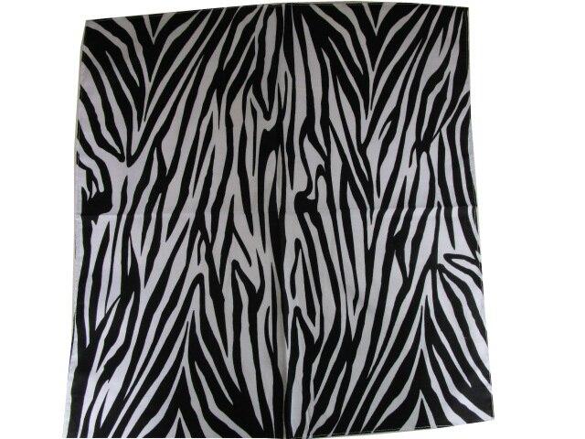 Free Shipping 2019 New Fashion Black And White Zebra Print Bandana For Women