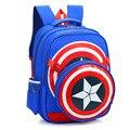 2017 Capitán América Hombro Estudiante Bolsa de Mochilas escolares para Los Niños Regalo de Los Niños Mochilas Mochila Bolsa de Viaje de la Taleguilla de La Alta Calidad
