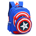 2017 Captain America School Bags for Boys Student Shoulder Bag Travel Bag Satchel High Quality Children Backpacks Mochila Gift