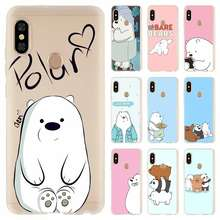 Bare Ice Bear Panda moda suave TPU funda para Coque Xiaomi Redmi 4A 5A 6A 4X5 6 Plus Pro Nota 7 6 4 4X3 5(China)