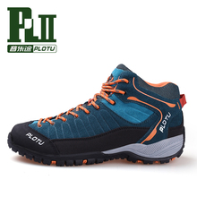 Mens High Top Sports Outdoor Hiking Hunting Shoes For Men Sport Climbing Mountain Trekking Shoes Man