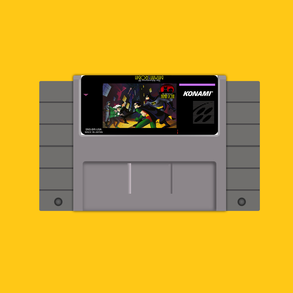 Adventures of Batman Robin 46 Pin 16 Bit Grey Game Card For USA NTSC Game Player image