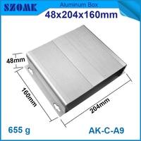 1 teile/los diy elektronische box aluminium projekt box und gehäuse für elektronik und pcb 48 (h) x204 (w) x160 (l) mm