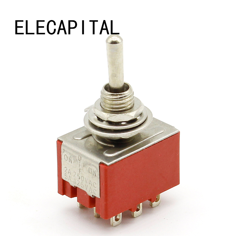2X Red Light 4 Pin DPST ON//OFF Snap in Rocker Switch 15A//250V 20A//125V AC 28x TD