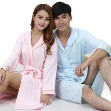 Bamboo Fiber ladies bathrobe males nightgown sleepwear  blanket towel gown lovers lengthy comfortable gown spring summer season autumn
