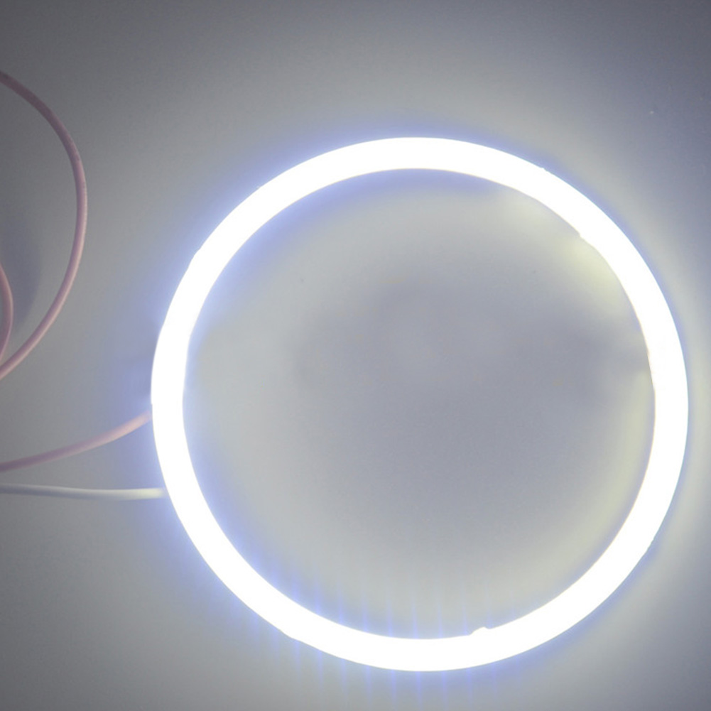 1pcs  80mm Car 12V COB LED CCFL  Rings Angel Eyes Fog Light  Lamp White