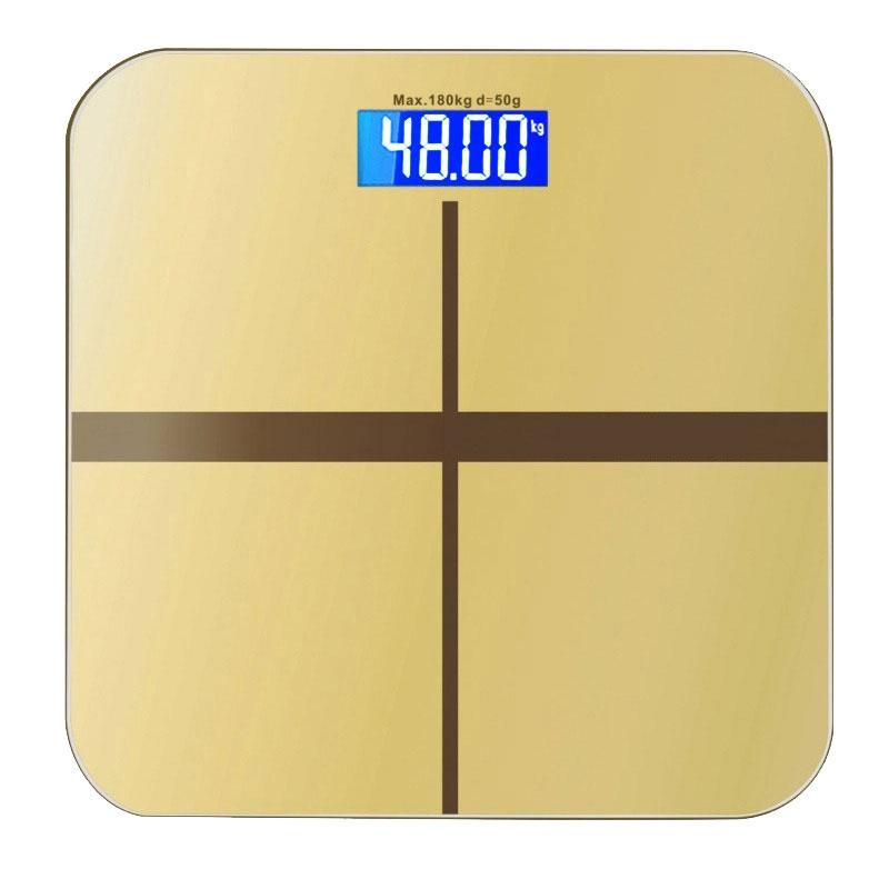 LumiParty Household Weighing Scale Digital Bathroom Scales Body Weight Loss Measuring Machine With LED Backlight Display-20 ...
