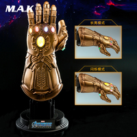 Hot Toys ACS007 1/4 Iron Man Avengers Endgame Infinity Gauntlet LED Light Dolls 7 Figure Wearable Cosplay Model Collection Gift