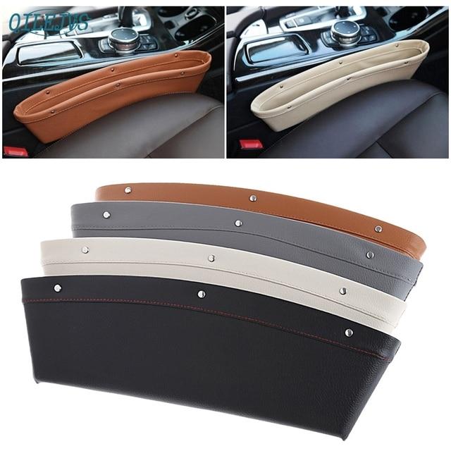 New Arrival Auto Car Catch Catcher Box Caddy Seat Gap Slit Pocket Storage Holder Organizer jul24