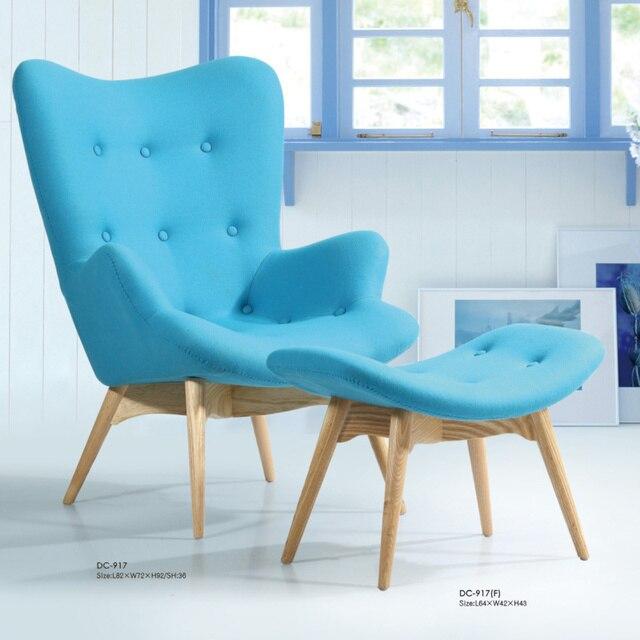 Scandinavian Minimalist Wood Armchair Single Room Cafe Chair Ikea Fashion Leisure Fabric Sofa