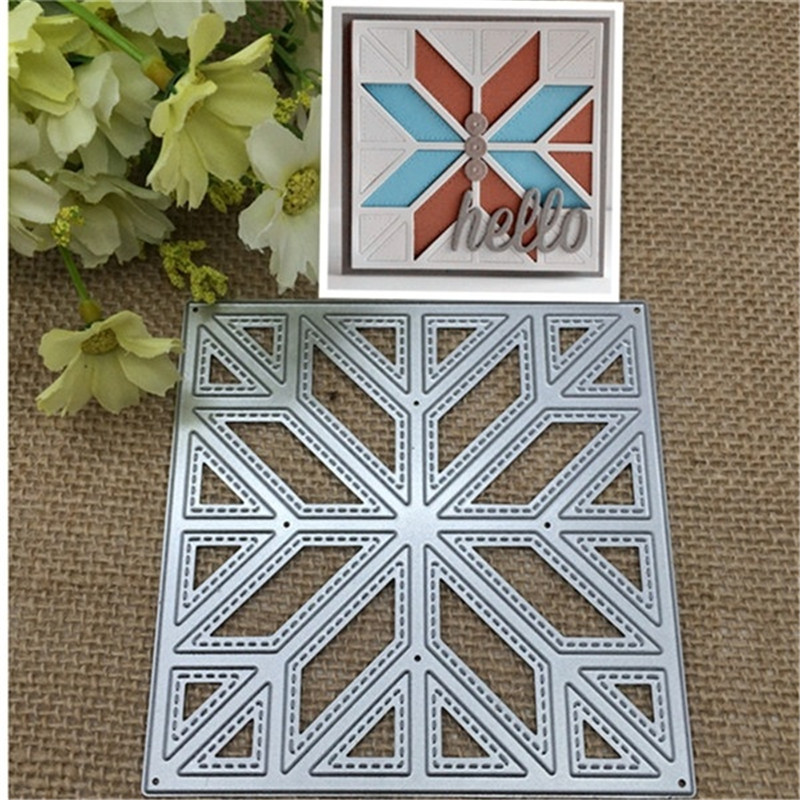 Premium Diagonal Quilt Back Ground Corte Morre Stencils Para DIY Scrapbooking Stamping Decor Embossing Cartões de Papel
