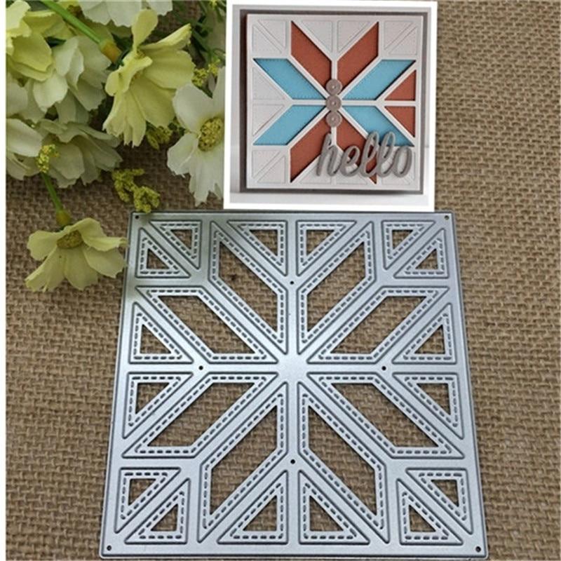 Diagonal Quilt Metal Cutting Dies Stencil Scrapbooking Card Embossing Craft DIY