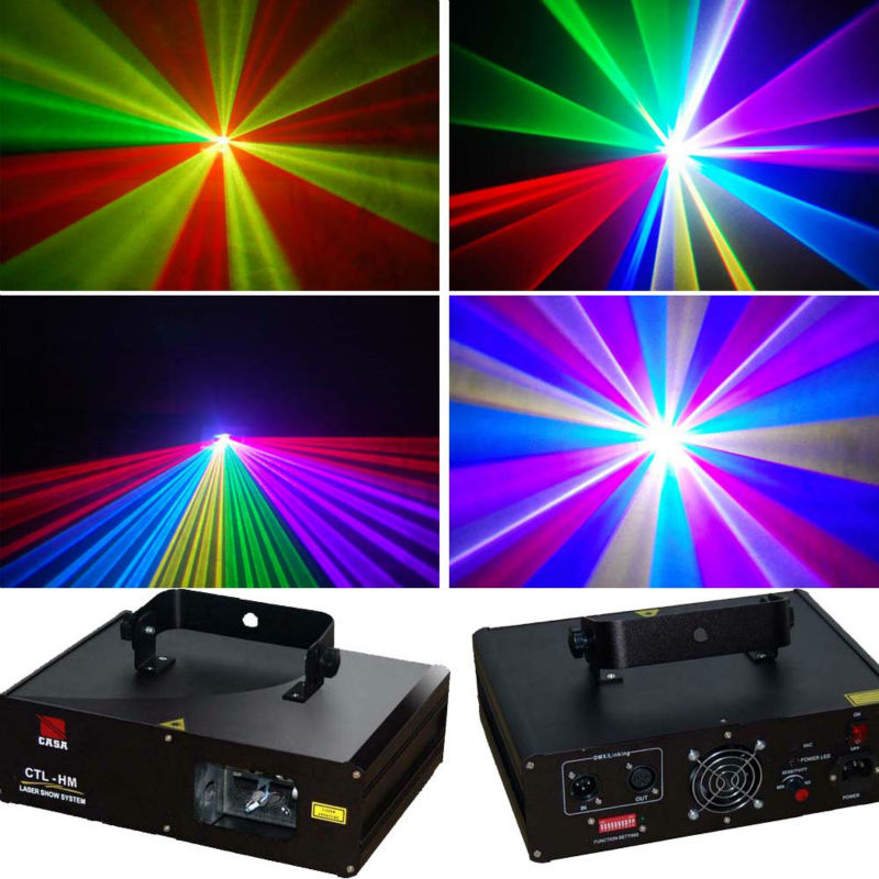 Wholesale 600mW RGB full color DMX laser light stage party lighting