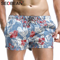 Seobean marca man casual jogger sweatpants activewear boxers homens praia board shorts troncos mens swimwear maiôs da carga de treino