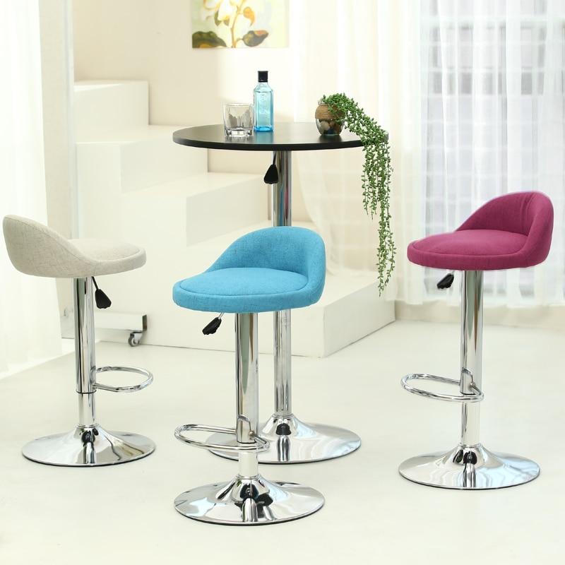Rotary lift bar stool bar chair chair high chair chair Manicure beauty fashion fabric bar stool lift the rotating bar chair simple laboratory work stool great of beauty barber