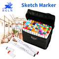 BGLN 30/40/60/80 Colores Conjunto Artista de Doble Cabeza Boceto Copic Markers Set De Dibujo de La Escuela Sketch Rotulador Suministros de Diseño