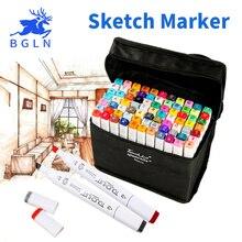 BGLN 30/40/60/80 Farben Set Künstler Dual Head Skizze Copic Marker Für Schule Zeichnung skizze Marker Stift Design Liefert