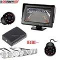Koorinwoo Parktronic Auto Parkplatz Sensoren 8 HD 800*480 Auto Monitor Anzeige Alarm Summer Front Form Rückansicht Kamera autos