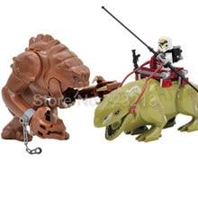 Животные, одиночная распродажа, Звездные войны, ранкор, фигурки, строительные блоки, Dewback, набор, крутые модели монстров, кирпичи, игрушки для детей, Legoing