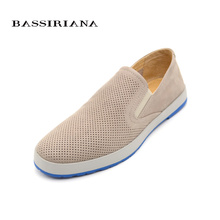 Genuine leather shoes men Popular casual Spring Autumn Russian size 39-45 Free shipping BASSIRIANA