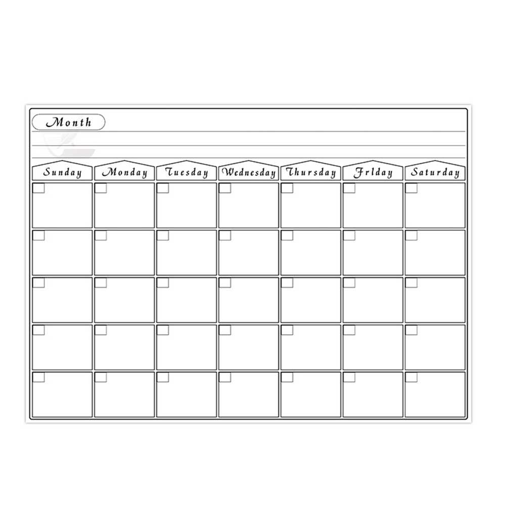 Weekly Memo Month Daily Planner Erasable For Fridge Reminder Home Magnetic Whiteboard Practical Rewritable Anti-stain CalendarWeekly Memo Month Daily Planner Erasable For Fridge Reminder Home Magnetic Whiteboard Practical Rewritable Anti-stain Calendar