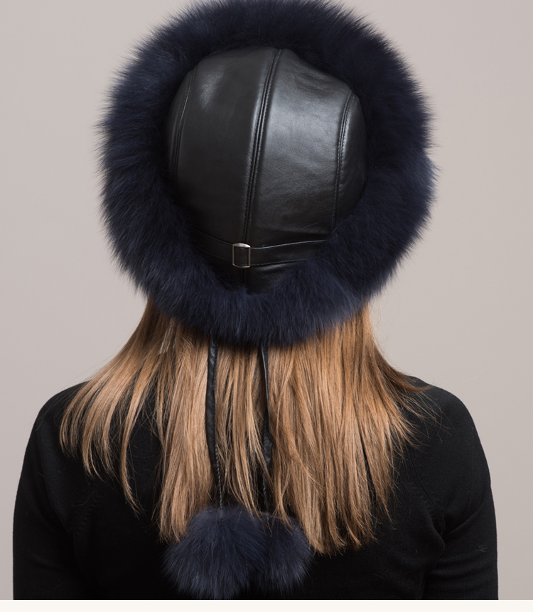 Winter Sexy Vintage Fashion Casual Nieuwe Vrouwen Vrouw Echte Natuurlijke Vos Hoed Warmer YH55 - 6