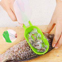 Multifunctional 2 in 1 Fish Scale Remover Scraper Skin Cleaner Kitchen Tool