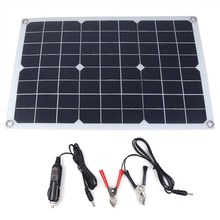 20W DC18V Solar Panel Energy Semi Flexible Monocrystalline Sun Power For RV Car Boat Battery Charger Solar Cells Module+Chip