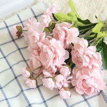 hight Quality silk flower 1 piese Artificial Flowers lotus Vivid Fake Leaf Wedding Home Party Decoration