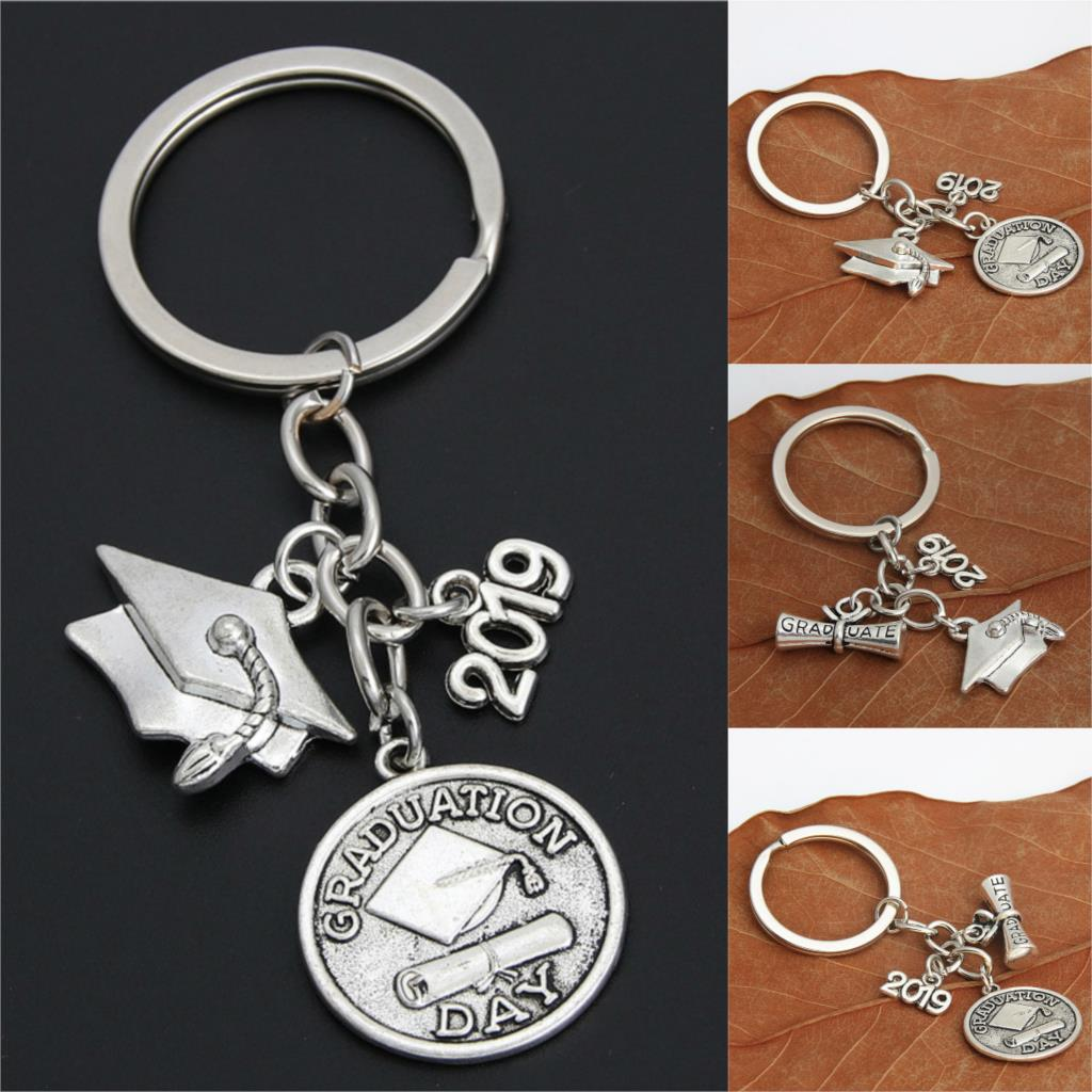 1pc Dropshipping 2019 Jewelry For Graduation Day Key Chains Key Ring Gift For Student Diploma Charms Keychains