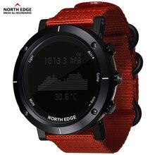 Купить с кэшбэком Smart watches Men outdoor sports watch waterproof 50m fishing Altimeter Barometer Thermometer Compass Altitude  hours NORTH EDGE