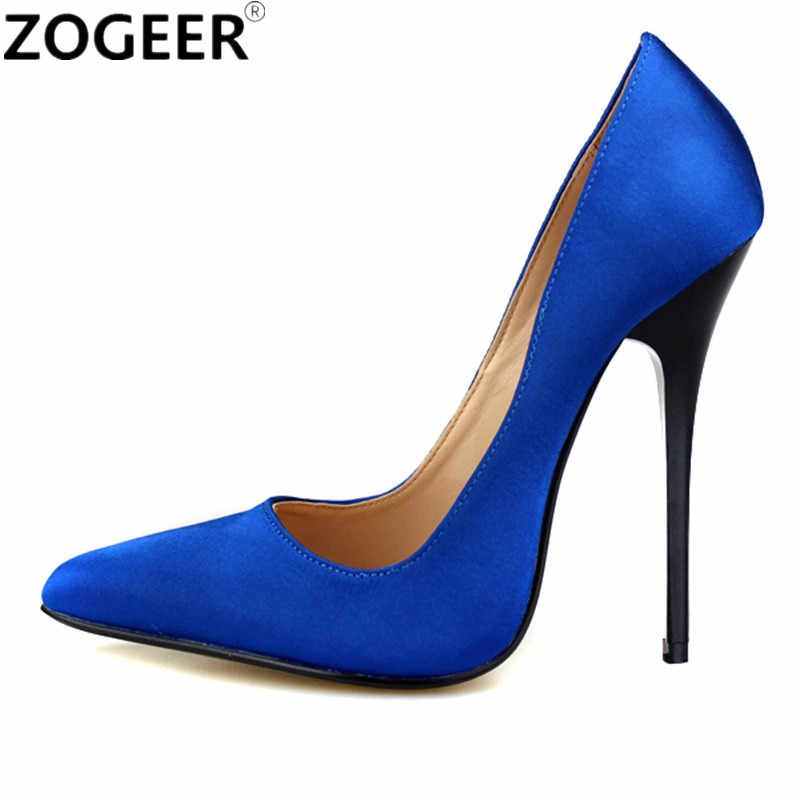 f046c0cd0fa Plus Size 48 Pointed Toe Sexy High Heels Women Pumps 13CM Women Office  Party Wedding Shoes