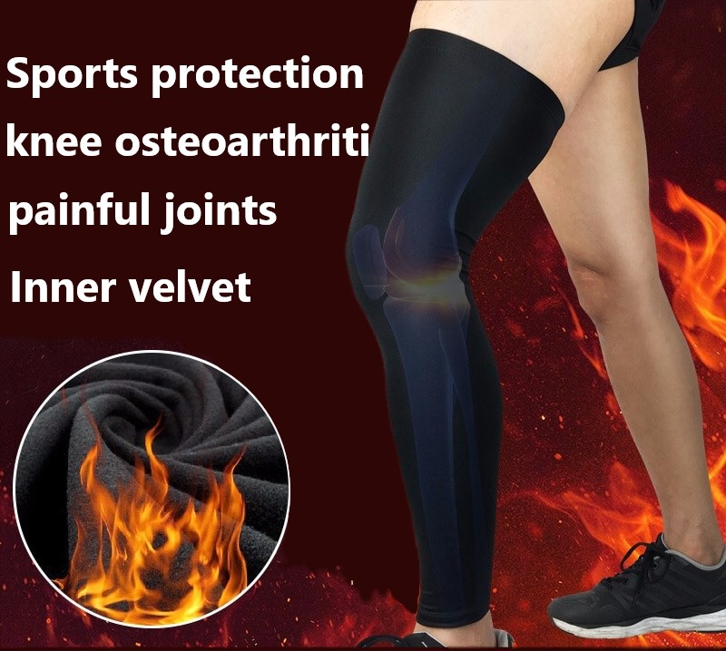 Sports Kneepad Autumn And Winter Plush Warm Knee Joint Outdoor Basketball Football Running Mountain Climbing Leg Protector