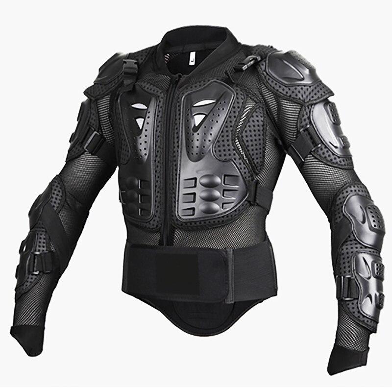 Черный/Красный ATV MX мотоцикла Профессиональный Полный Средства ухода за кожей Куртки мотокроссу езда Off Road Панцири куртка