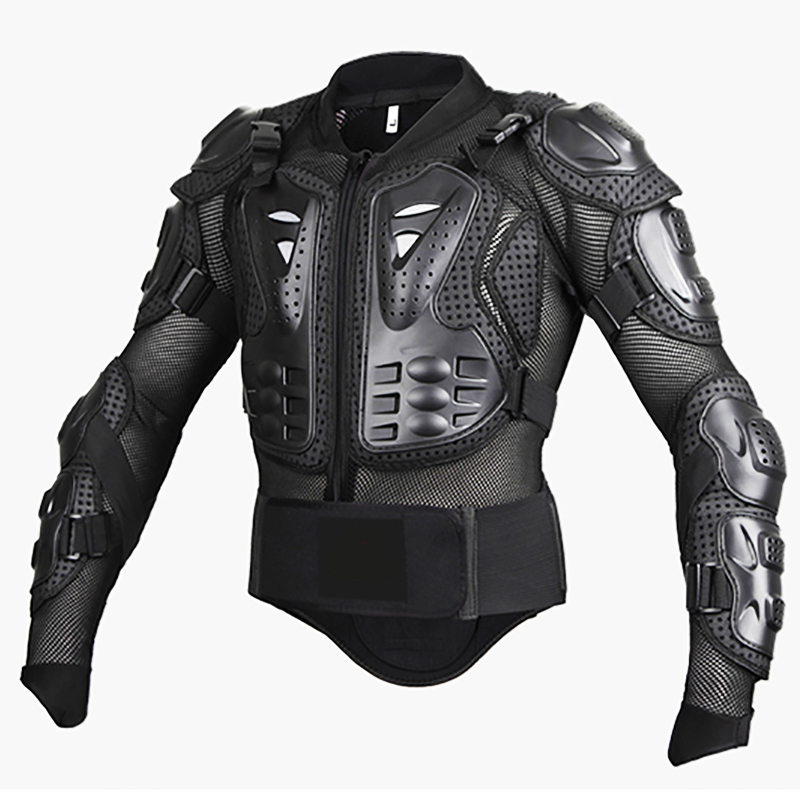 BLACK/RED ATV MX Motorcycle Professional Full Body Jackets Motocross Racing Riding Off Road Armor Jacket
