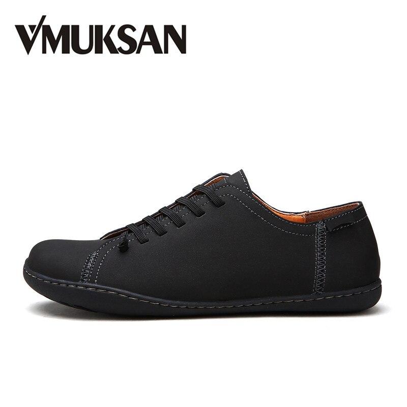 VMUKSAN Hot Sale Mens Shoes Quality Split Leather Loafers Men 2018 Fashion Handmade Men's Flats New Spring Slip On Espadrilles