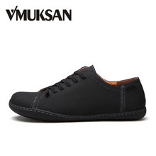 VMUKSAN offre spéciale hommes chaussures qualité Split cuir mocassins hommes 2018 mode à la main hommes appartements nouveau printemps sans lacet Espadrilles(China)