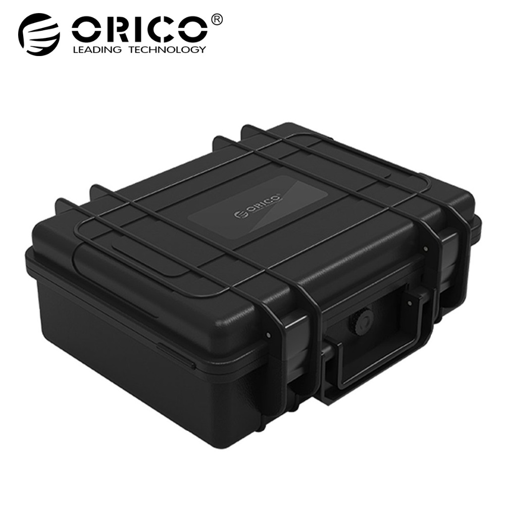 ORICO 20 bay 3.5 inch Hard Drive Protection Case Water-proof + Shock-proof + Dust-proof Function Safety Lock and Snap Design silicone shock proof fall proof dust proof case w stand for ipad air 2 9 7 camouflage black