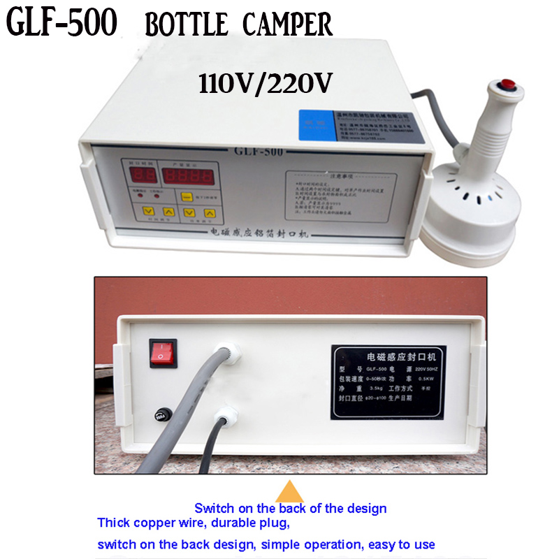 electromagnetic induction aluminum foil sealing machine GLF-500 induction sealer machine Capping Machine Fast shipping DHL glf 500 electromagnetic induction aluminum foil sealing machine portable magnetic induction bottle sealer 20mm 100mm