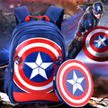 HOT!2016 3D cartoon Captain America children school bag students boy waterproof backpack kids cool anime 6 -12 years child gift