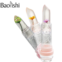 baolishi flower lipstick Plants fruit essence jelly lipstick set lip balm red tint lip gloss beauty brand makeup cosmetics