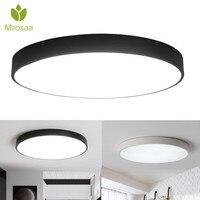 Mrosaa רטרו 18 W 24 W LED מתקן אורות תאורה פנימית שחור/לבן סלון חדר שינה צמודי מנורת Led אורות-בתאורת תקרה מתוך פנסים ותאורה באתר