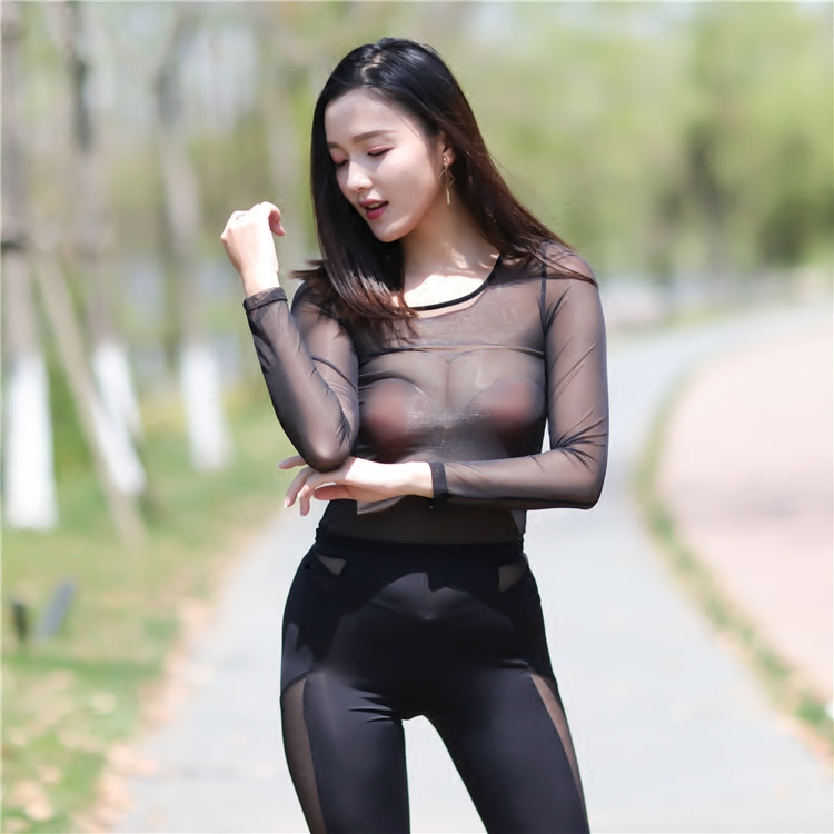 ladies-suit-black-girls-with-see-through-tshirts