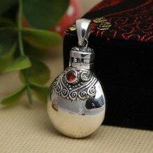 Parfumflesje Hanger 100% 925 Sterling Zilveren Boeddha Ketting Hanger Voor Mannen Vrouwen Mode Fijne Sieraden Gem Jug Z5